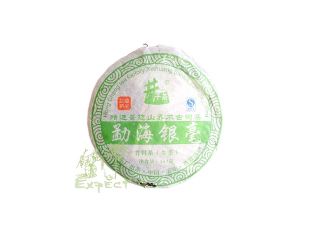 Čaj Pu Erh Hong Cheng Xishuangbanna /2009 zelený typ_357g