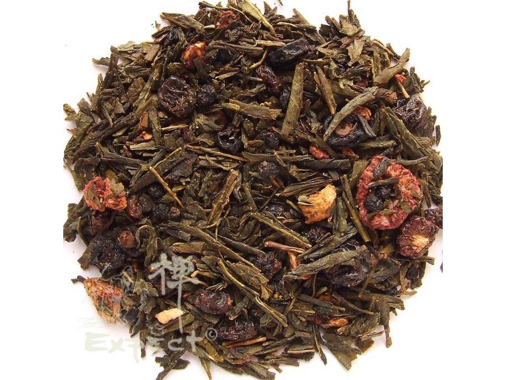 Aromatizovaný čaj Sencha Ovocná zahrada