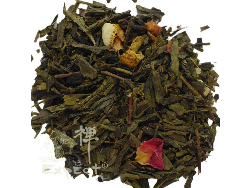 Aromatizovaný čaj Sencha Zimní čas