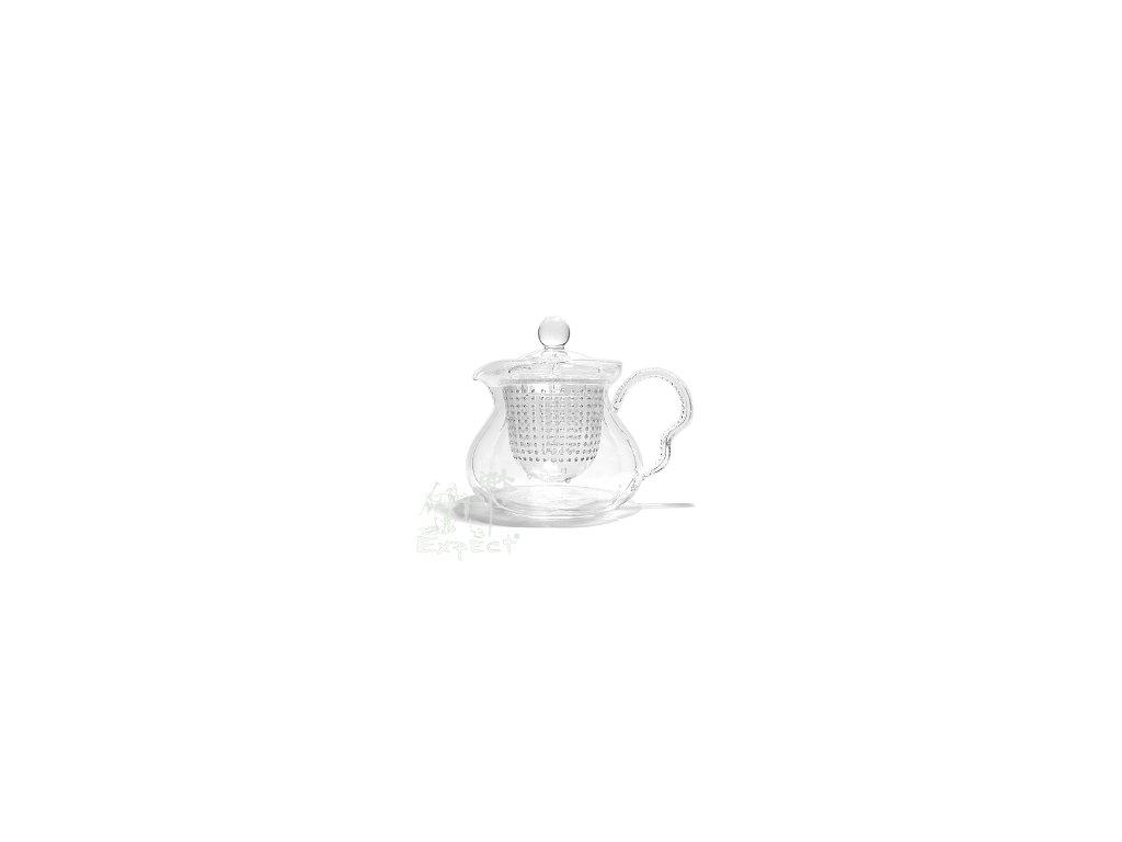 Konvička na čaj varné sklo tvarovaná 0,6l
