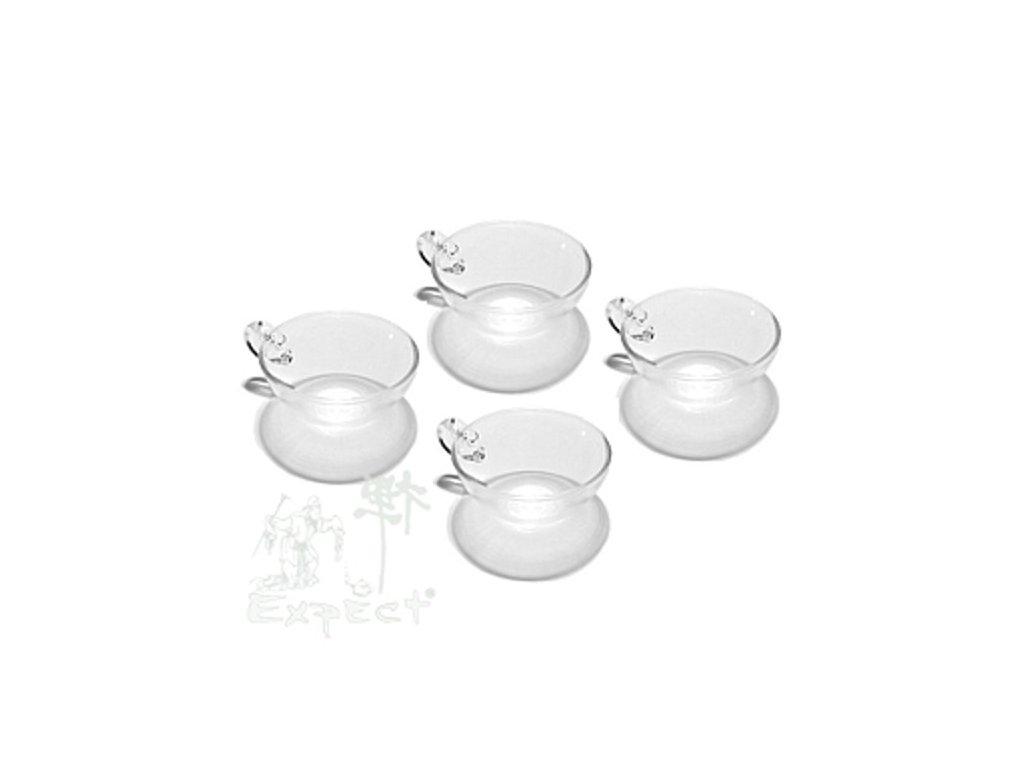 Skleněné testovací šálky na čaj China Chikao/set 4ks/
