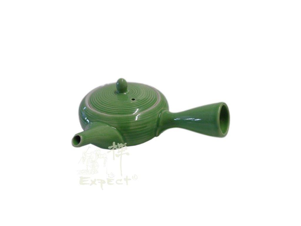 Japonská porcelánová konvice Kyusu zelená 0,4l