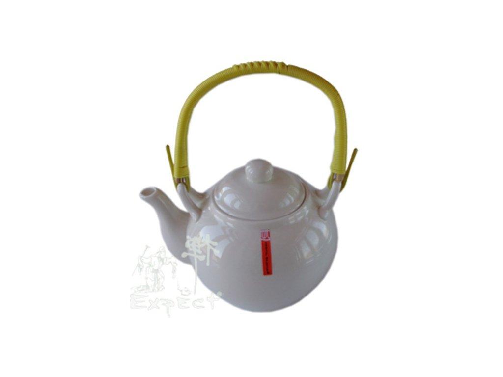 konvice na čaj Jing bílý porcelán 0,72l