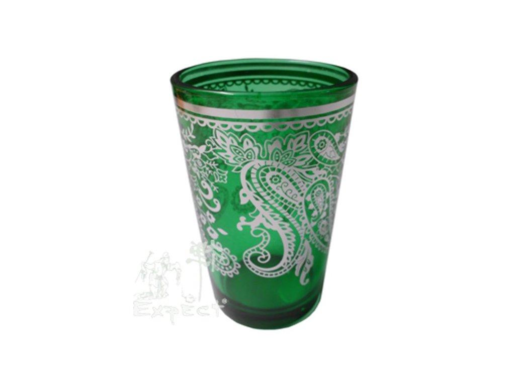 Sklenička na čaj Bamira Zelenostříbrná 2dcl
