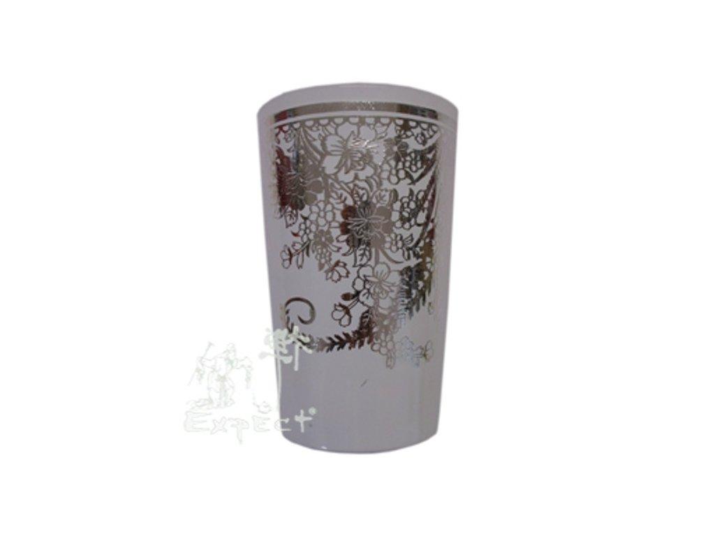 Sklenička na čaj Bamira bílostříbrná 2dcl