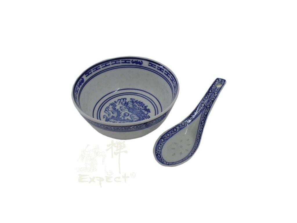 miska China porcelán Rice grain and spoon 11,5cm