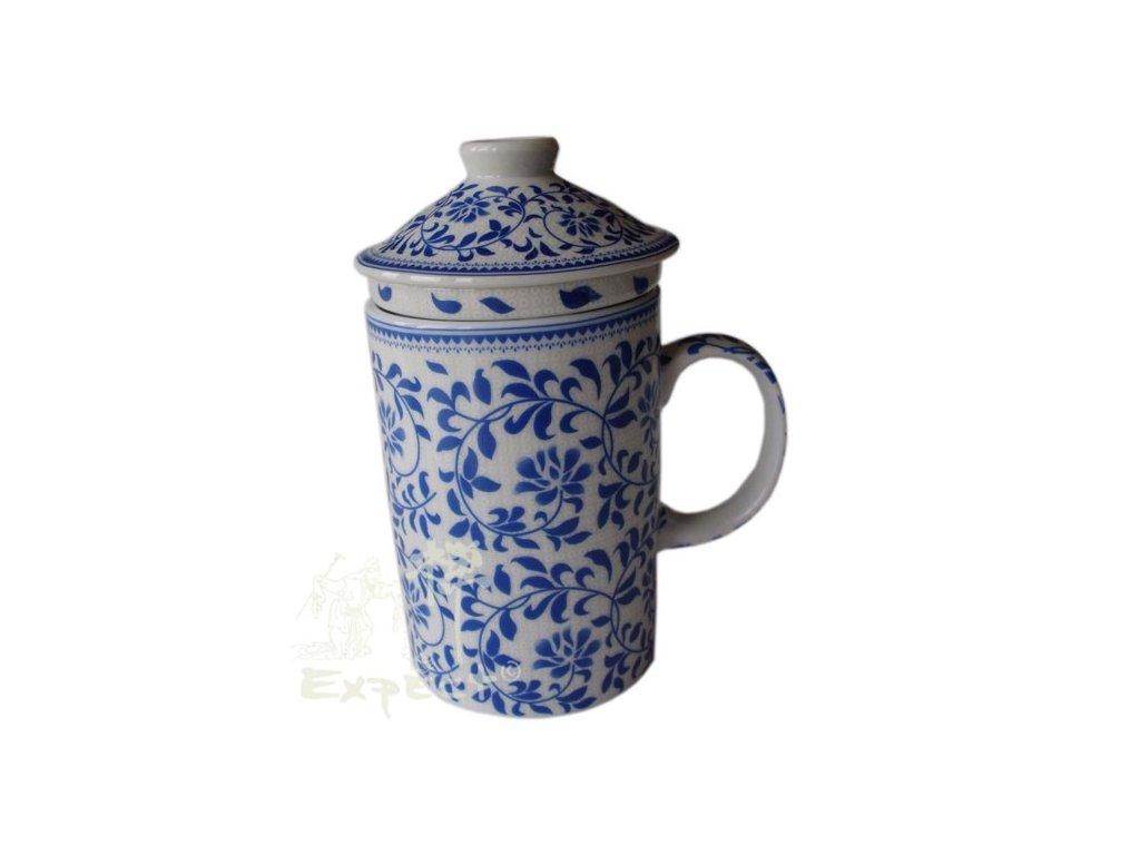 Bylináček porcelánový modrobílý ornament