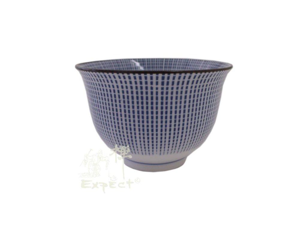 miska Japan porcelán Tokusa Sendan modré pruhy 9cm