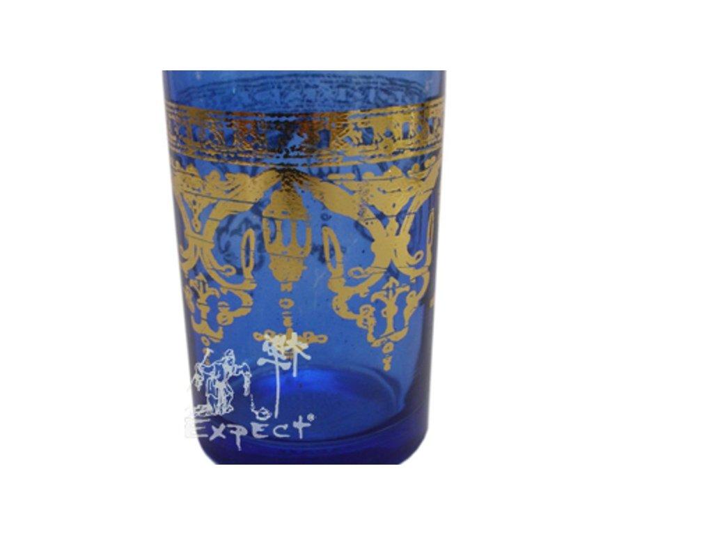Sklenička modrá Maghreb 1dcl rovná