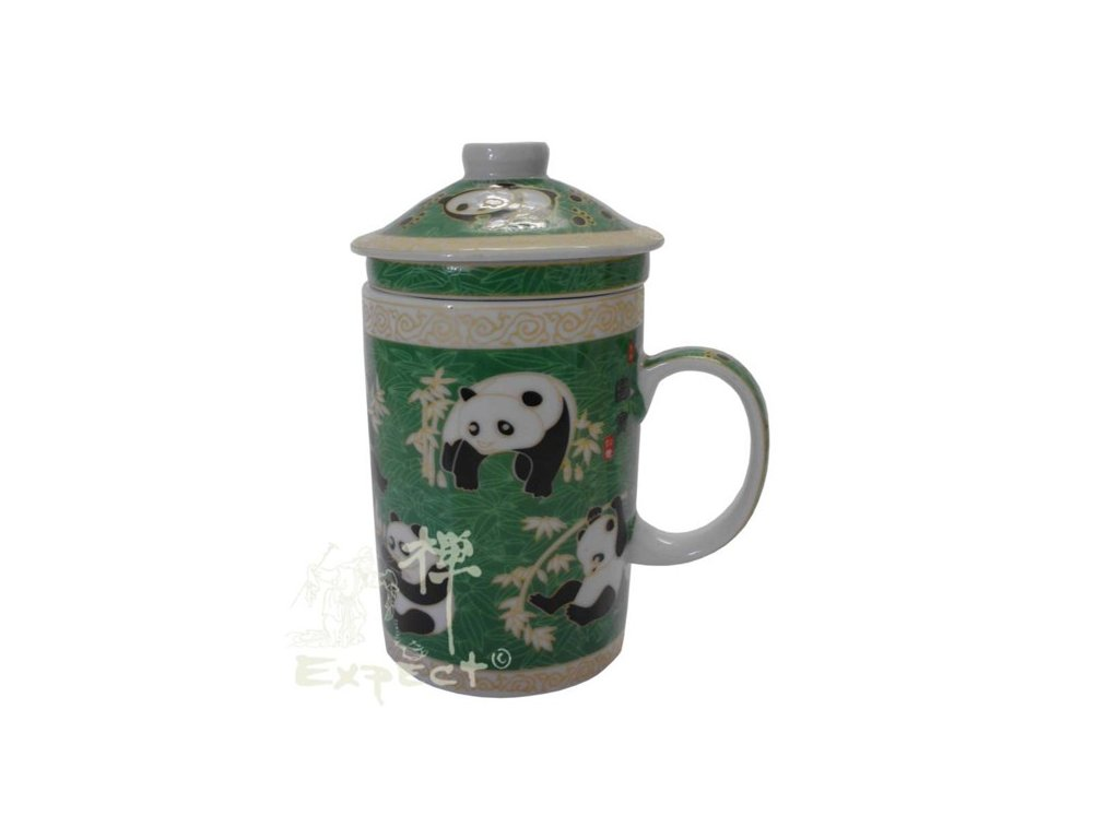 Bylináček porcelánový Panda zelený