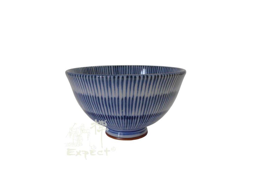 miska Japan porcelán Tokusa Hoso pruhy trojřad 11cm