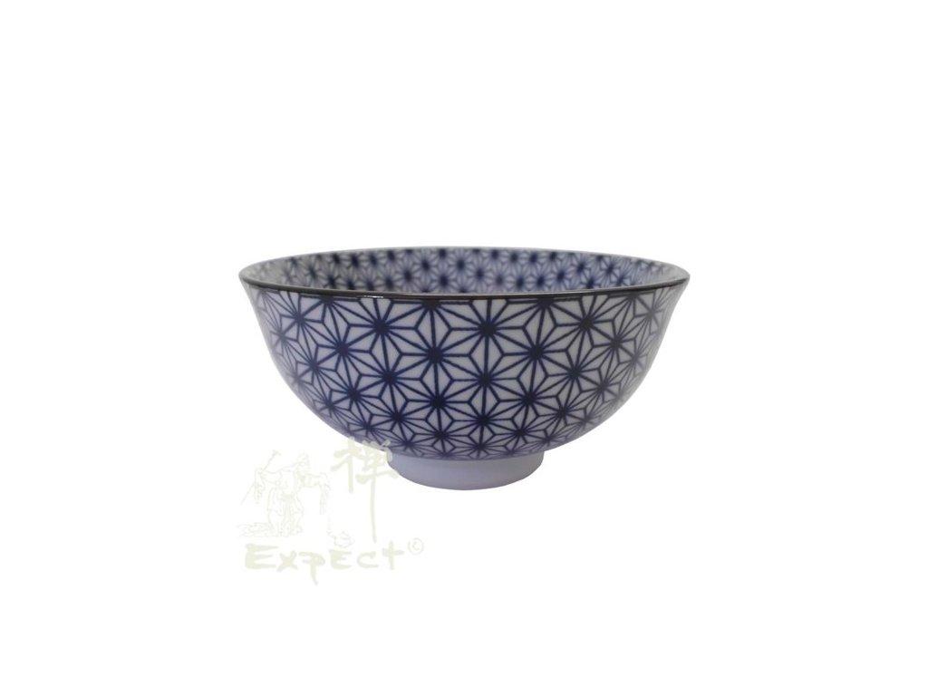 miska Japan porcelán modré květy 12cm