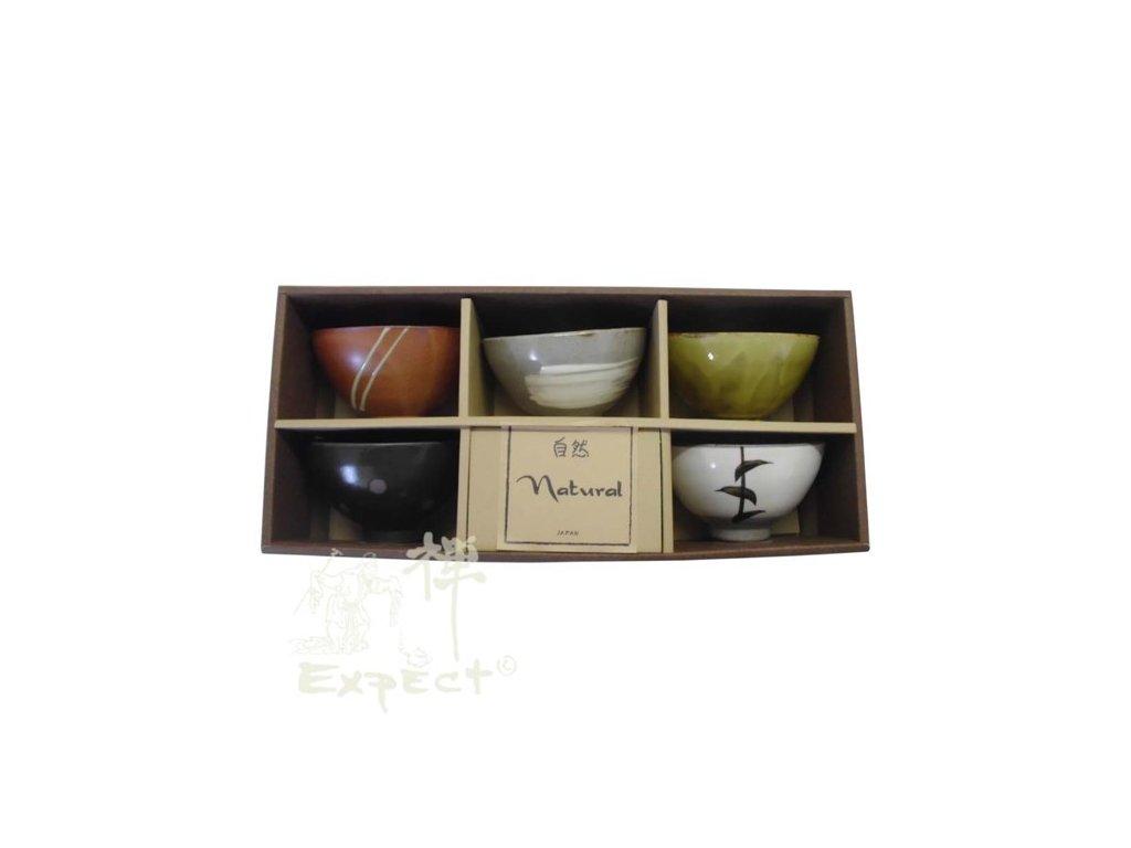 souprava misek Japan keramika Natur 10,5cm 5ks