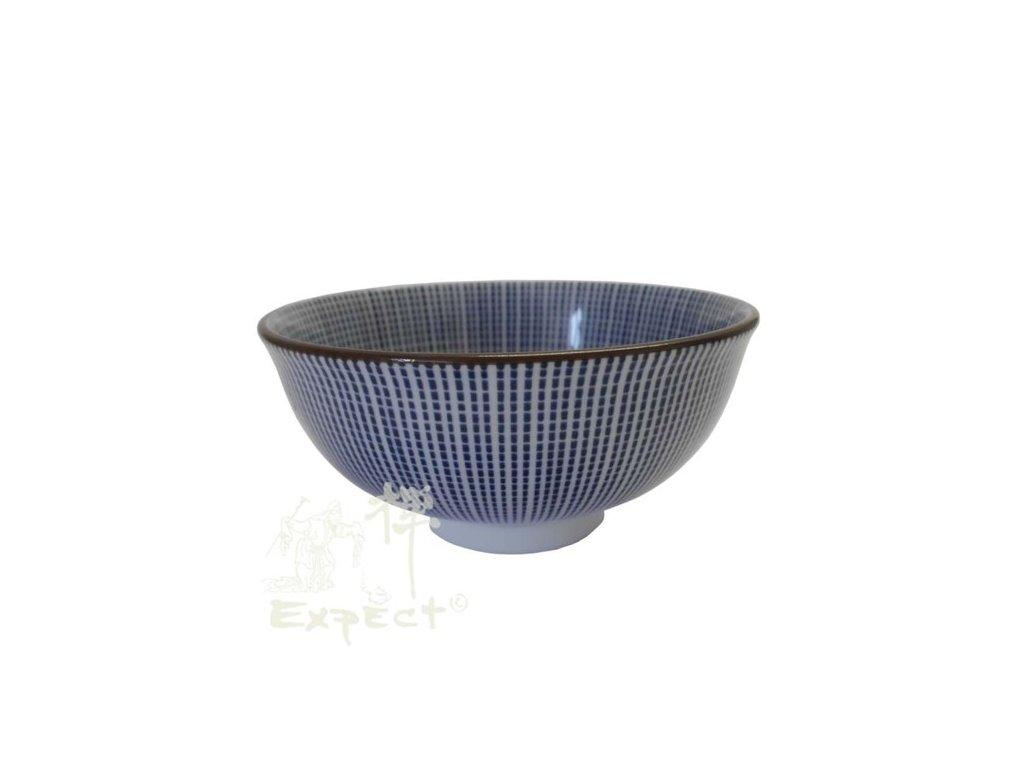 miska Japan porcelán Tokusa Hoso modré pruhy 12cm