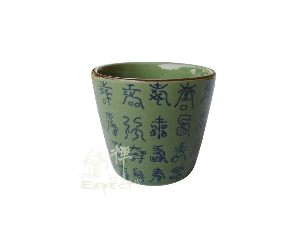 kalíšek China porcelán Celadon 7,5cm