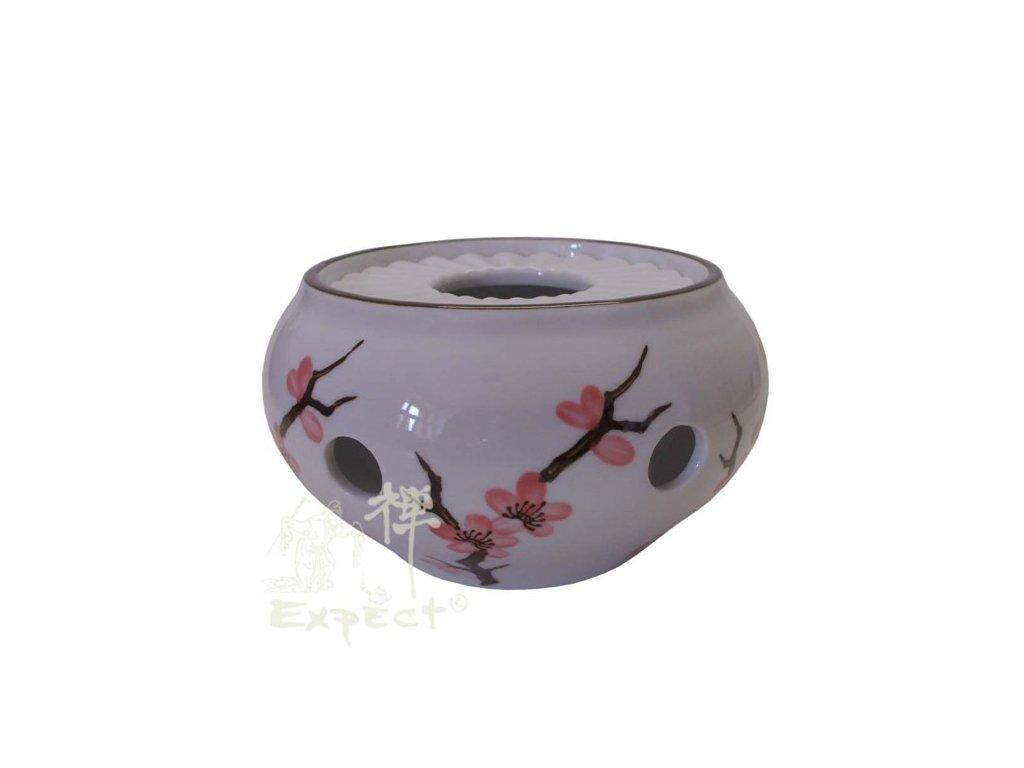 ohřívač porcelánový China Sakura 12x8cm