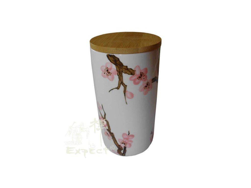 čajová dóza porcelánová Sakura 750ml
