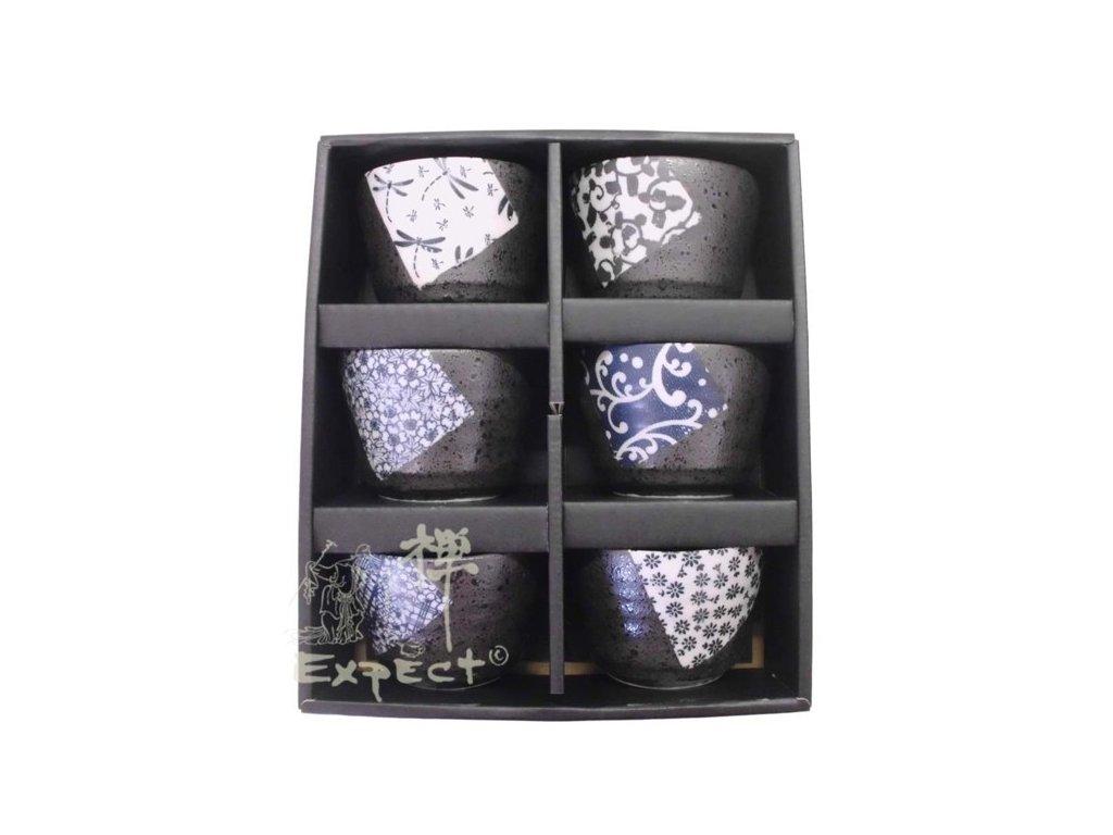 souprava kalíšků Japan Blue pattern set 6ks