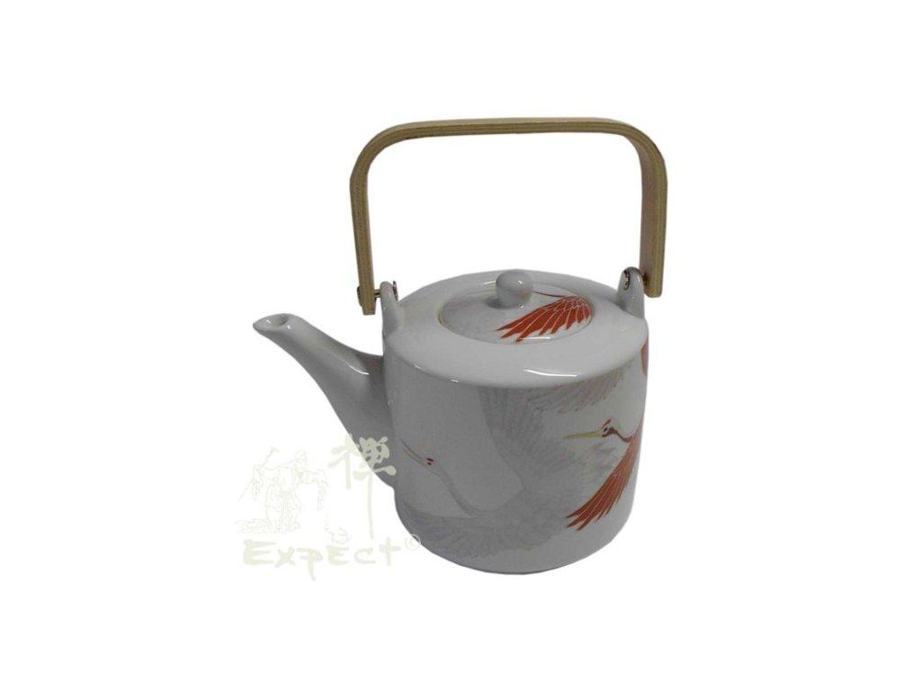 konvice porcelánová China style Crane 1L