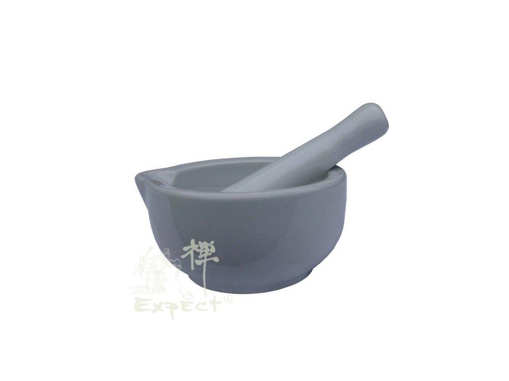 hmoždíř China porcelán bílý 10cm