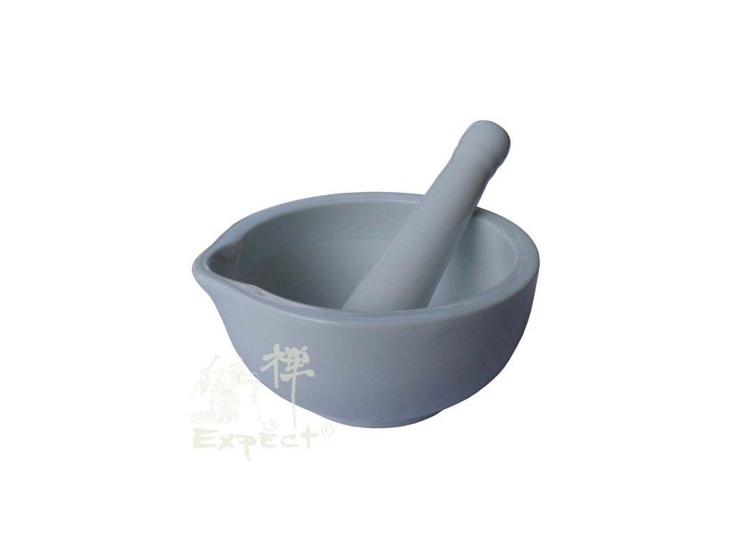 hmoždíř China porcelán bílý 15cm