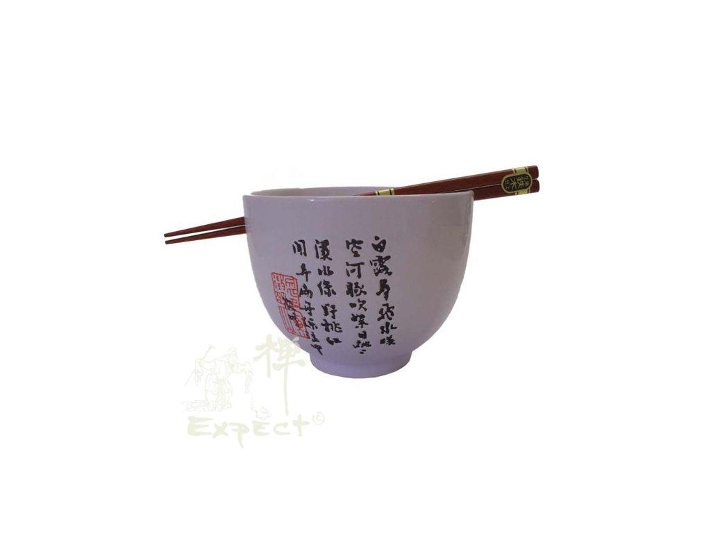 miska porcelán Japan style Soba White znaky