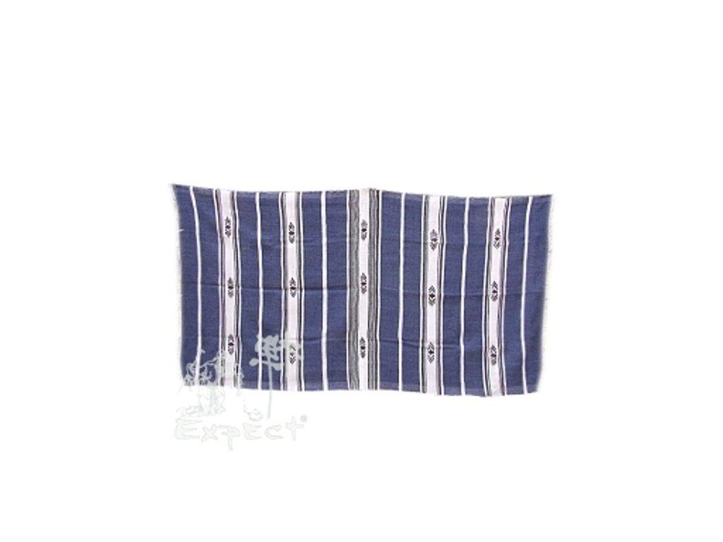 Marocká deka 120x210 - modrobílá