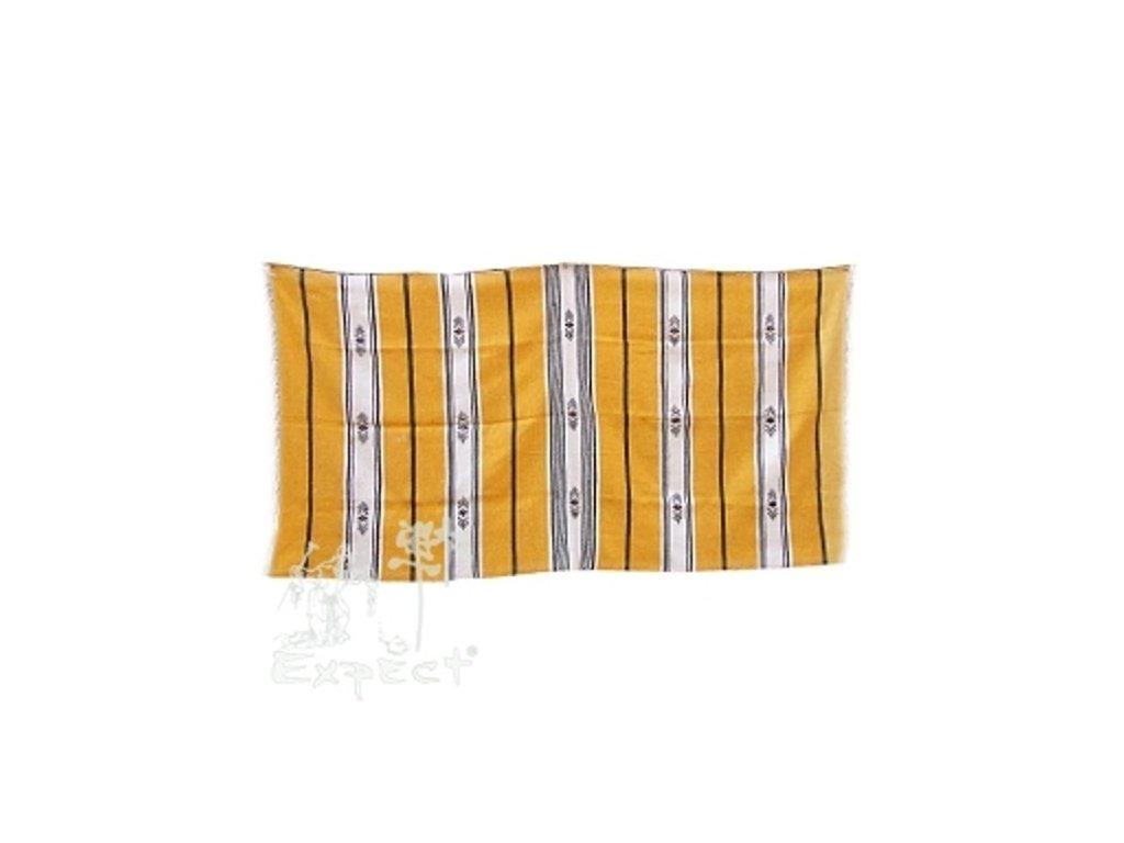 Marocká deka 120x210 - žlutá