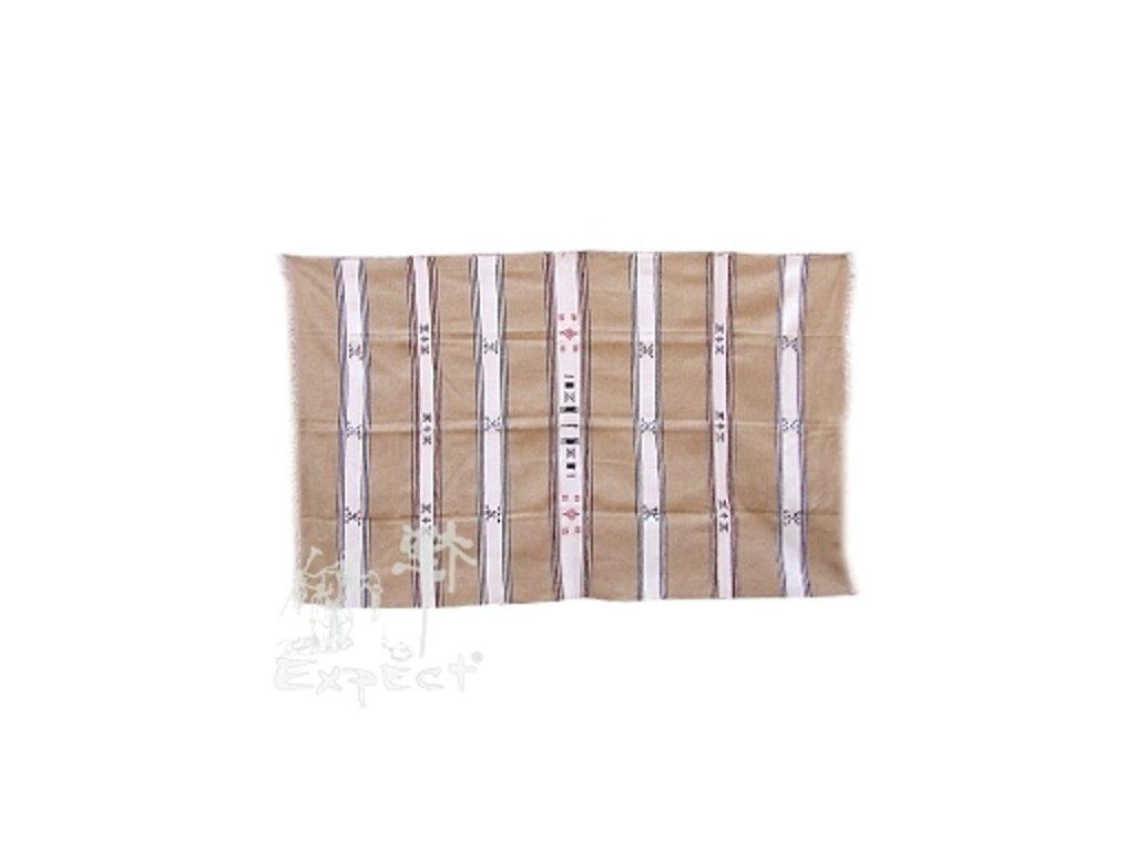 Marocká deka 120x210 - hnědobílá