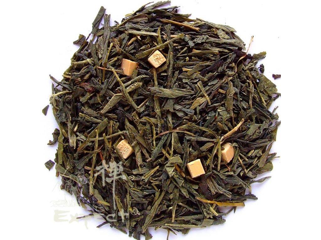Aromatizovaný čaj Sencha Karamelový krém