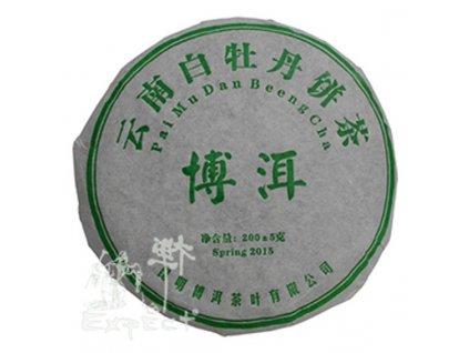 Čaj Pu Erh Yunnan Pai Mu Dan Beeng Cha Ming Qiang 2015_200g
