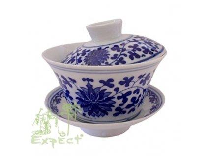 Zhong (Gaiwan) miska na čaj / porcelán flowery 11cm