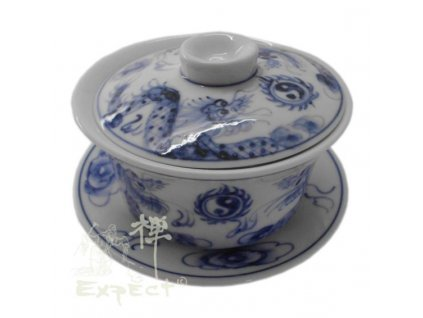Zhong (Gaiwan) miska na čaj /porcelán Vietnam dragon/ 10cm