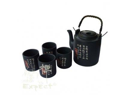 souprava China porcelán Black 5 dílná