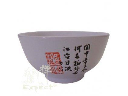 miska china porcelan White kaligrafie 11,5cm