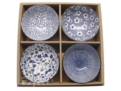 souprava Japan misky Blue flowers 4ks