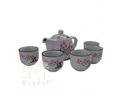 souprava China Tea flowery set 5ks 0,5l