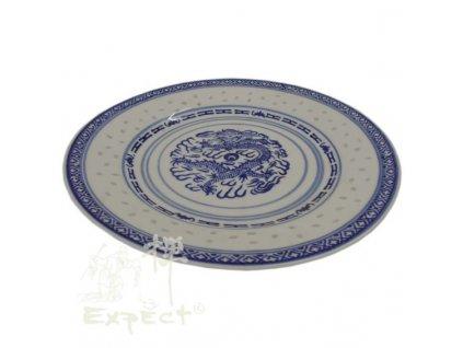 talíř China rýžový porcelán mělký 23cm