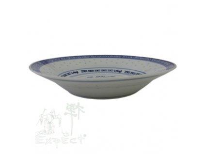 talíř China rýžový porcelán hluboký 23cm