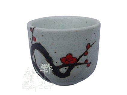 kalíšek saké China porcelán Plum Blossom 5x4,4cm