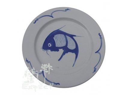 talíř China porcelán Kapr mělký 23cm