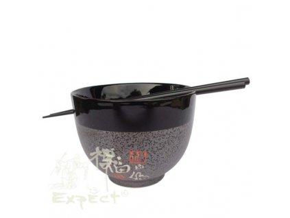 miska China porcelán Soba Grey znaky 12cm