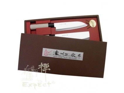 Nože Japan set Nakiri + Santoku, Sekiryu