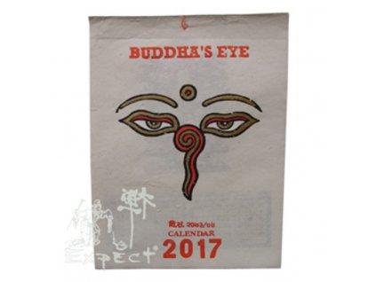 kalendář Buddha Eyes tříbarevný