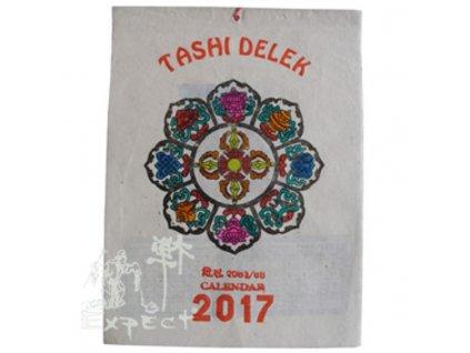 kalendář Tibetské symboly barevný