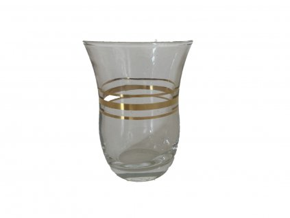sklenička gold line