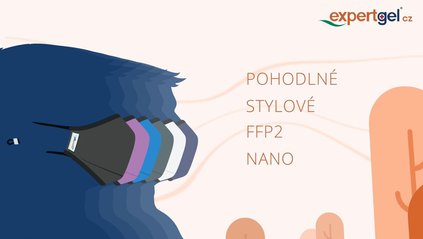 Vlastnosti 3D NANOrouška FFP2/3 ExpertGel