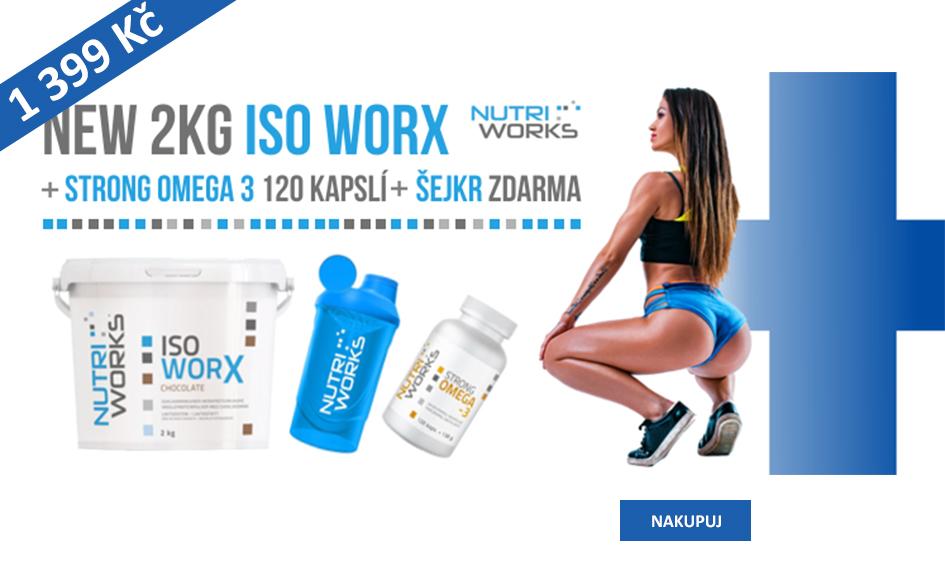 Iso Worx 2Kg + Omega3 + šejkr
