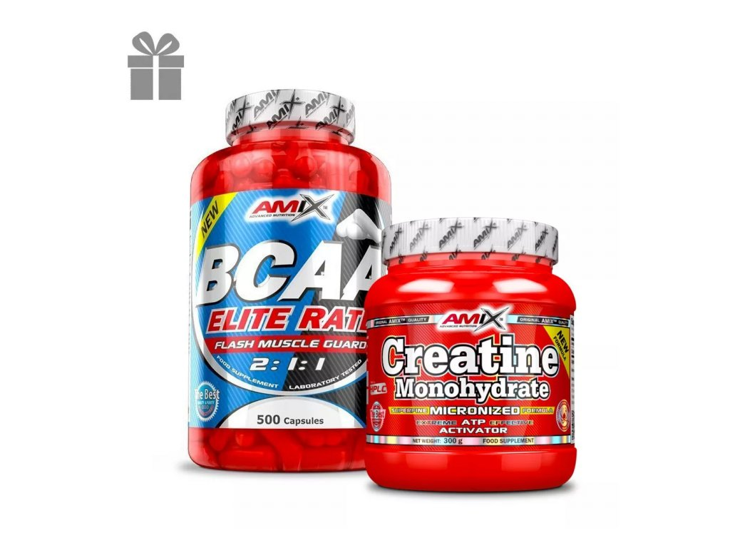 Amix BCAA Elite Rate 500 kapslí + Creatine Monohydrate Powder 300g ZDARMA!