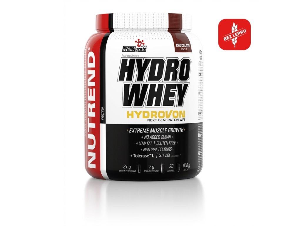 hydro whey 800g chocolate logo cz
